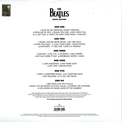 The Beatles In Mono Masters Limited 180gm Vinyl 3 Lp Tri