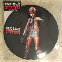 "David Bowie Starman RSD limited edition 7"" picture disc with intact sticker"