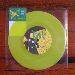David Bowie Let's Dance Australian ACMI yellow vinyl 7""