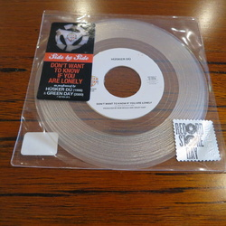 "H??sker D?? / Green Day Don't Want To Know split RSD CLEAR vinyl 7"" RARE"