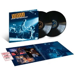 Nirvana Live At The Paramount 180gm vinyl 2 LP g/f sleeve